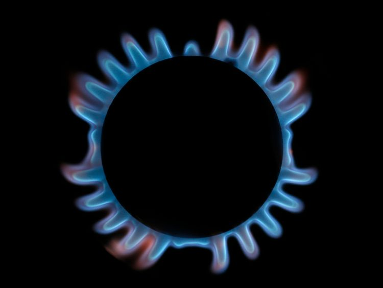 A gas hob is seen in this photo illustration taken in London December 2, 2013.