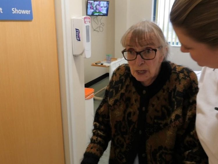 Joan was moved straight to a ward for care and rehabilitation as part of a pilot NHS scheme