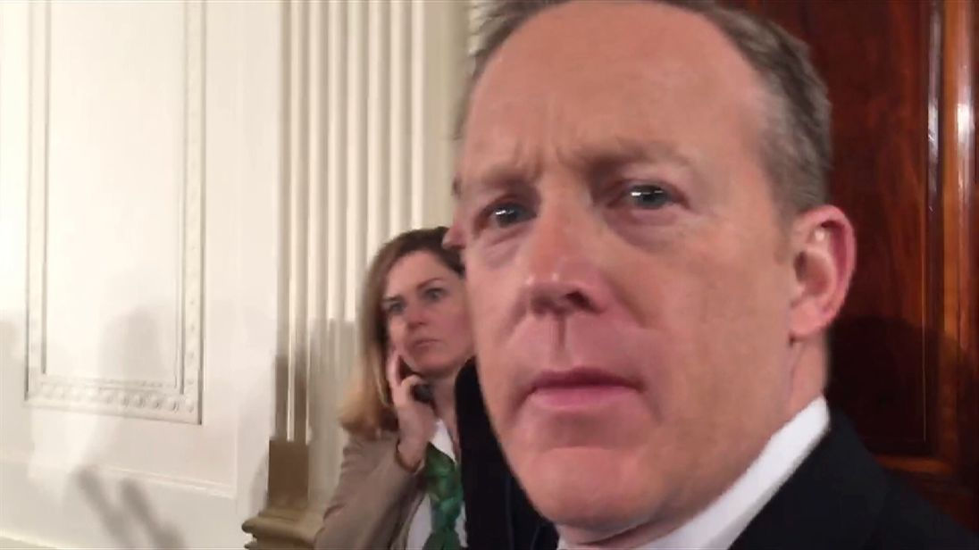 Sean Spicer: No regrets over UK spying allegations