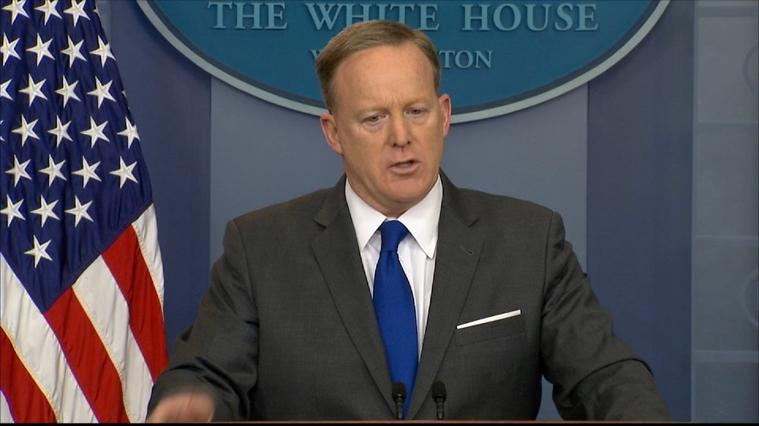 White House spokesman Sean Spicer