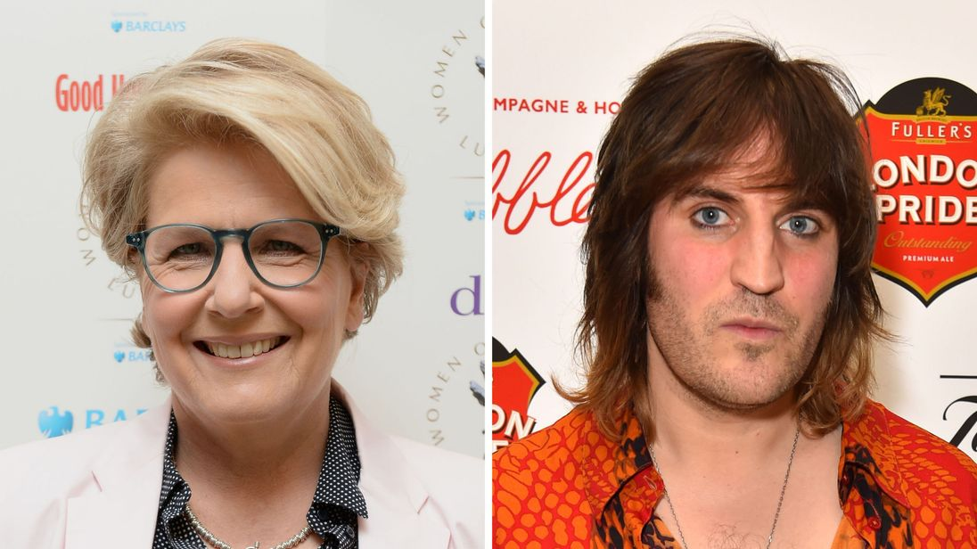 The two presenters - Sandi Toksvig and Noel Fielding