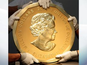 The Big Maple Leaf is the world's biggest coin