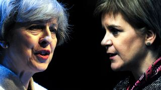 Theresa May and Nicola Sturgeon trade blows over Brexit and the possibility of a second independence referendum.