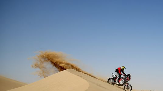 David Mabbs of Great Britain competes during day two of the Dubai International Baja, United Arab Emirates