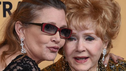 Fisher and Reynolds at the 21st Annual Screen Actors Guild Awards in 2015
