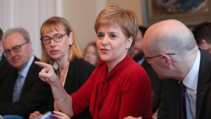Nicola Sturgeon addressing cabinet on a second referendum