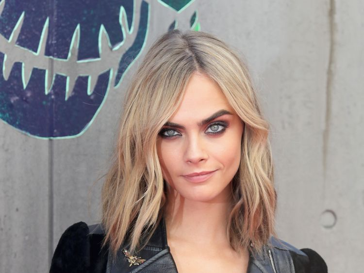 Cara Delevingne attends the European Premiere of 'Suicide Squad