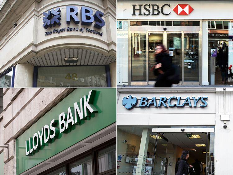 RBS, HSBC, Lloyds, and Barclays banks