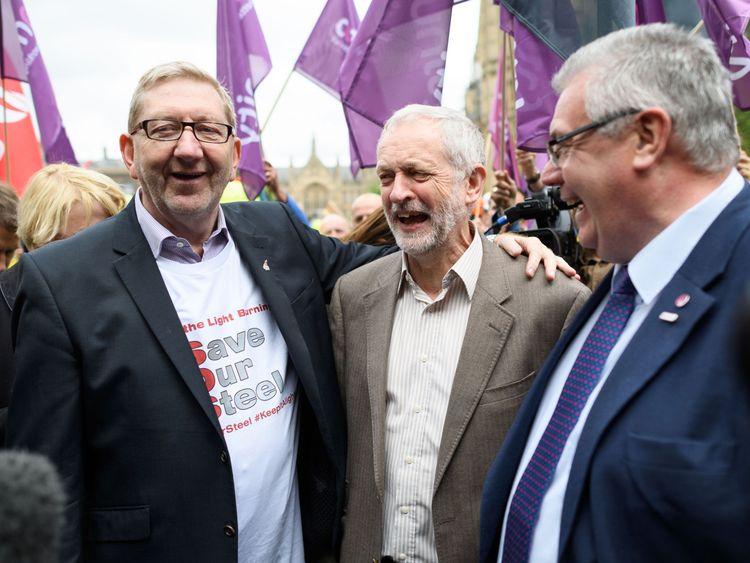 Len McCluskey and Jeremy Corbyn