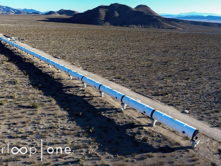 Hyperloop One's test track in the Nevada desert