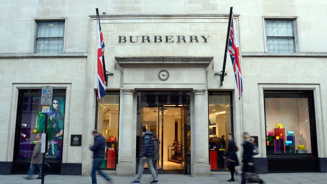 File photo dated 01/02/13 of the Burberry shop in New Bond Street, London