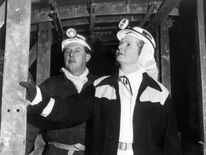 Prime Minister Margaret Thatcher during her St Valentine's day underground visit to Wistow colliery in Selby