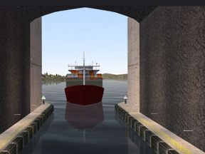 What the entrance will look like. Photos by Kystverket/ Norwegian Coastal Administration