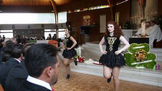 Irish dancers performed at the ceremony