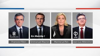 Candidates in the French election