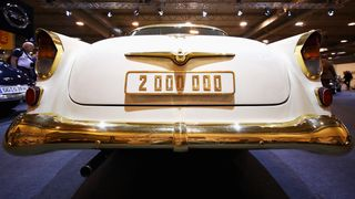 A detailed view of the 1956 Opel Kapitain
