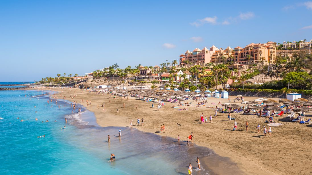 A beach in the popular holiday destination of Tenerife
