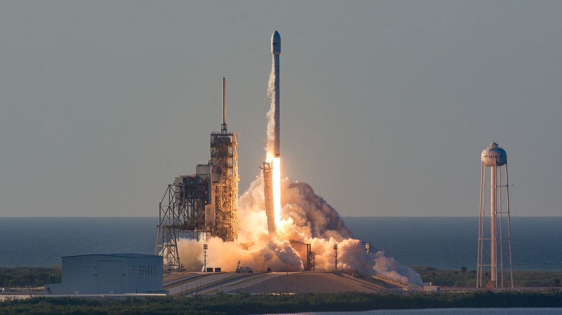 SpaceX's Falcon 9 rocket takes off from  NASA's Kennedy Space Centre in Florida