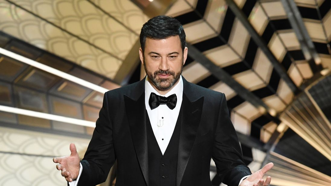 Jimmy Kimmel onstage during the 89th Annual Academy Awards