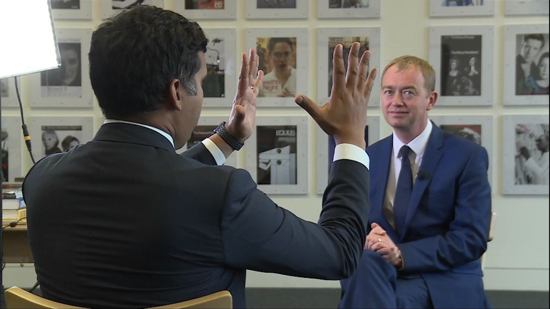 Liberal Democrat leader Tim Farron discusses his Party's manifesto