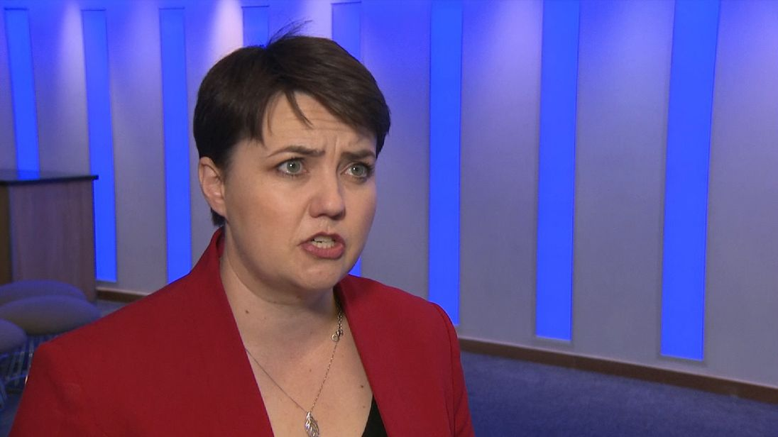 Scottish Conservative leader Ruth Davidson