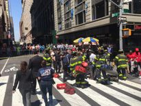 The New York City Fire Department posted this picture of the incident. Pic: @FDNY