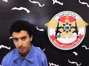 Hashem Abedi, the brother of the Manchester bomber, following his arrest in Libya