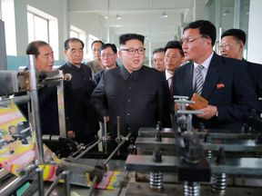 Kim Jong Un visits a plastics factory in Pyongyang this week