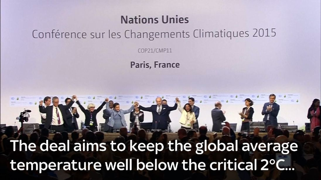 World leaders assemble for a climate change conference