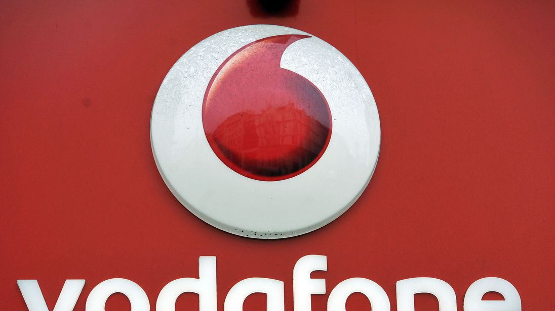 File photo dated 06/01/16 of the Vodafone logo, as the company announced new rules to prevent its advertising from appearing within outlets focused on creating and sharing hate speech and fake news. PRESS ASSOCIATION Photo