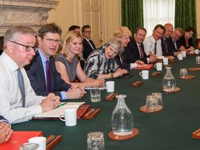 Theresa May met leading members of her Cabinet