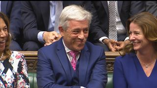 John Bercow is re-elected as Speaker of the House of Commons