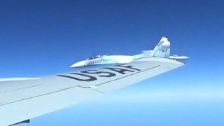 A US RC-135U flying in international airspace over the Baltic Sea was intercepted by a Russian SU-27 Flanker on 19 June