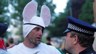 Former England footballer Robert Green dressed as 'Danger Mouse'