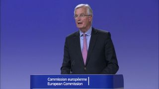 Michel Barnier at the Brexit negotiations talks