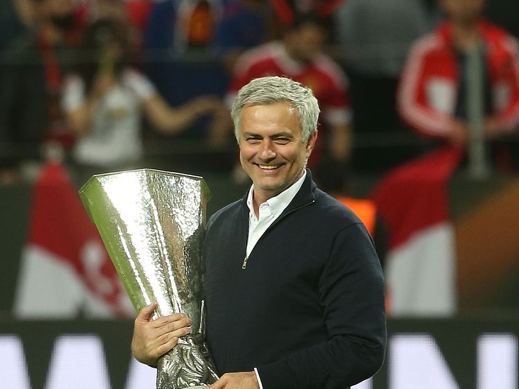 Mourinho won the Europa League in his first season as Manchester United manager