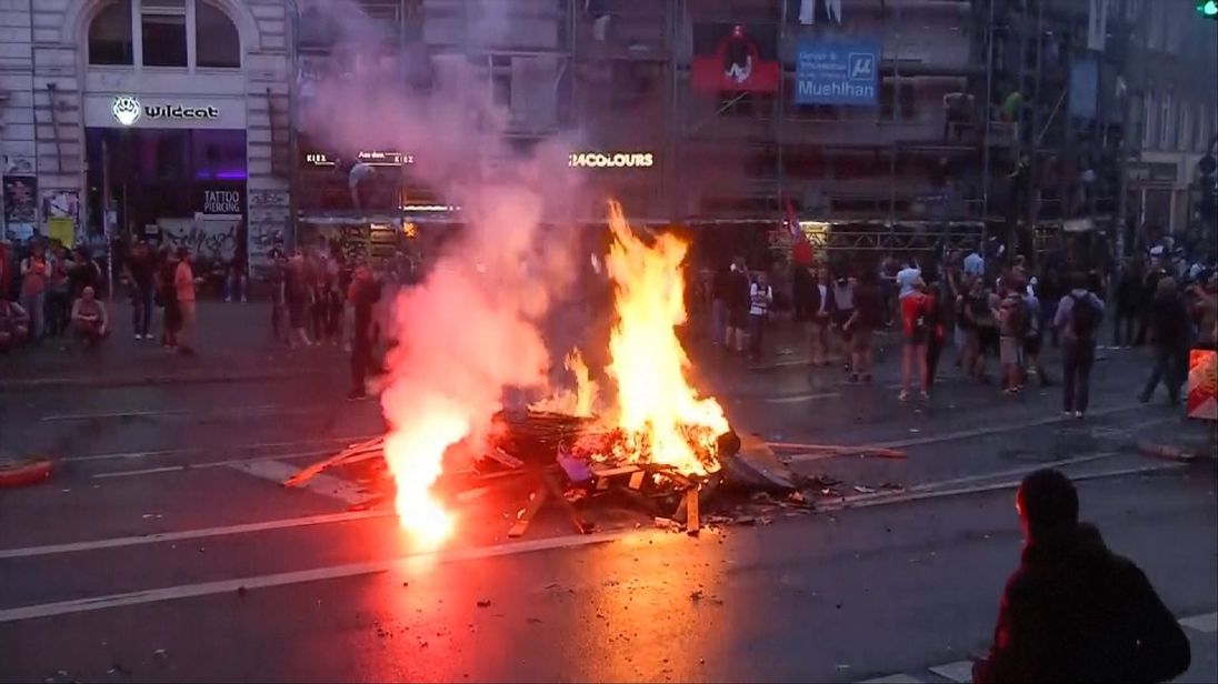 Protests on streets of Hamburg against backdrop of G20 summit