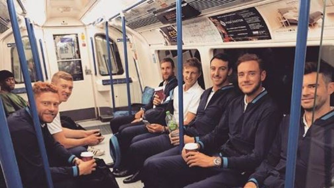 Stuart Broad described the journey at #morningcommute