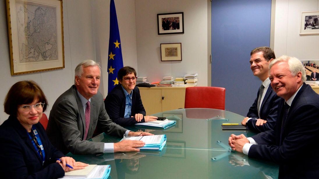 David Davis and Michel Barnier during Brexit negotiations
