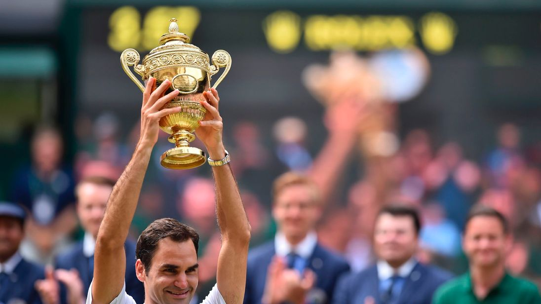 Federer, 35, has become the oldest man in the open era to win Wimbledon