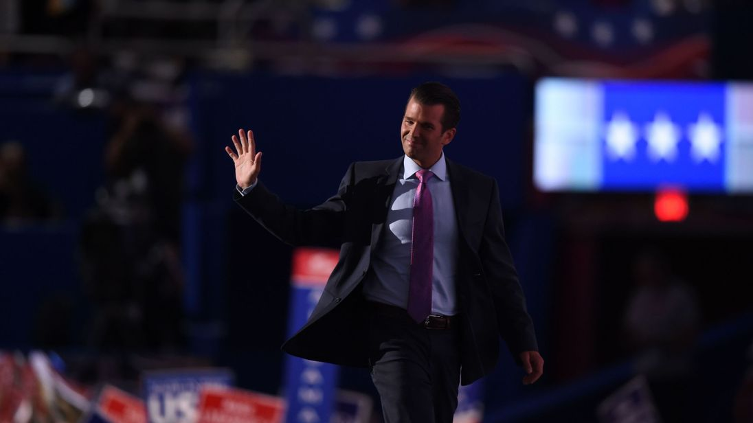 Donald Trump Jr at the Republican National Convention in July last year