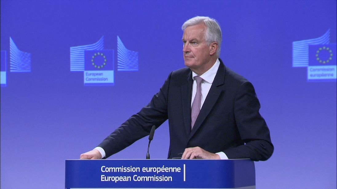 EU Brexit negotiator Michel Barnier said he heard no whistles, just a ticking clock