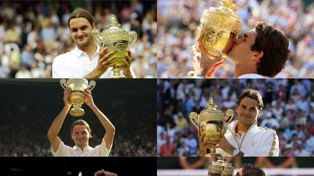 Roger Federer has now won Wimbledon a record eight times