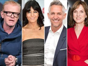 Chris Evans, Claudia Winkleman, Gary Lineker and Fiona Bruce