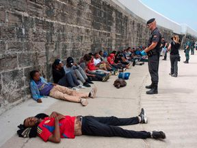 Migrants from |Morocco were rescued in June