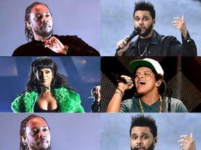 Kendrick Lamar, Rihanna, The Weeknd and Bruno Mars