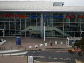 The man was arrested at Liverpool airport.