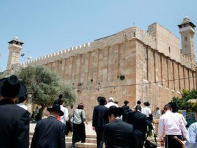 The Ibrahimi Mosque or Cave of the Patriarchs is a holy shrine for both Muslims and Jews