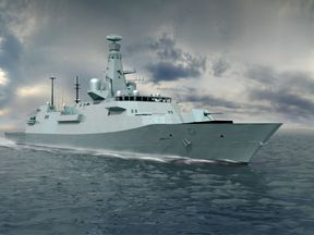Undated handout file illustration issued by BAE Systems of an exterior shot of the latest design for the Type 26 Global Combat Ship. The first warship in a new fleet of Royal Navy frigates will be called HMS Glasgow, the Defence Secretary has announced.