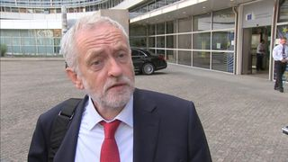 Jeremy Corbyn said he's in Brussels to defend jobs and living standards